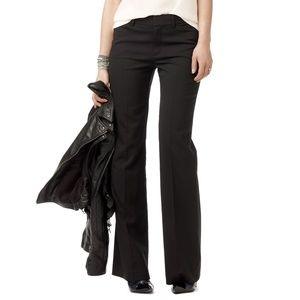club monaco • black wool suit slim trouser pant